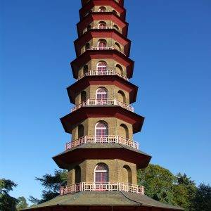 Chinese pagoda in Kew Gardens London UK ** Note: Slight graininess, best at smaller sizes