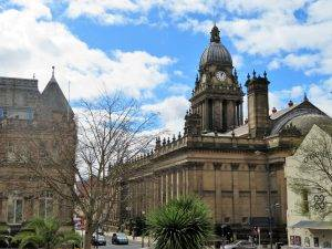 We Walk Past The Leeds Art Gallery To Stand Alongside Perhaps Most Famous Building And Symbol Of Victorian Age Town Hall 1853