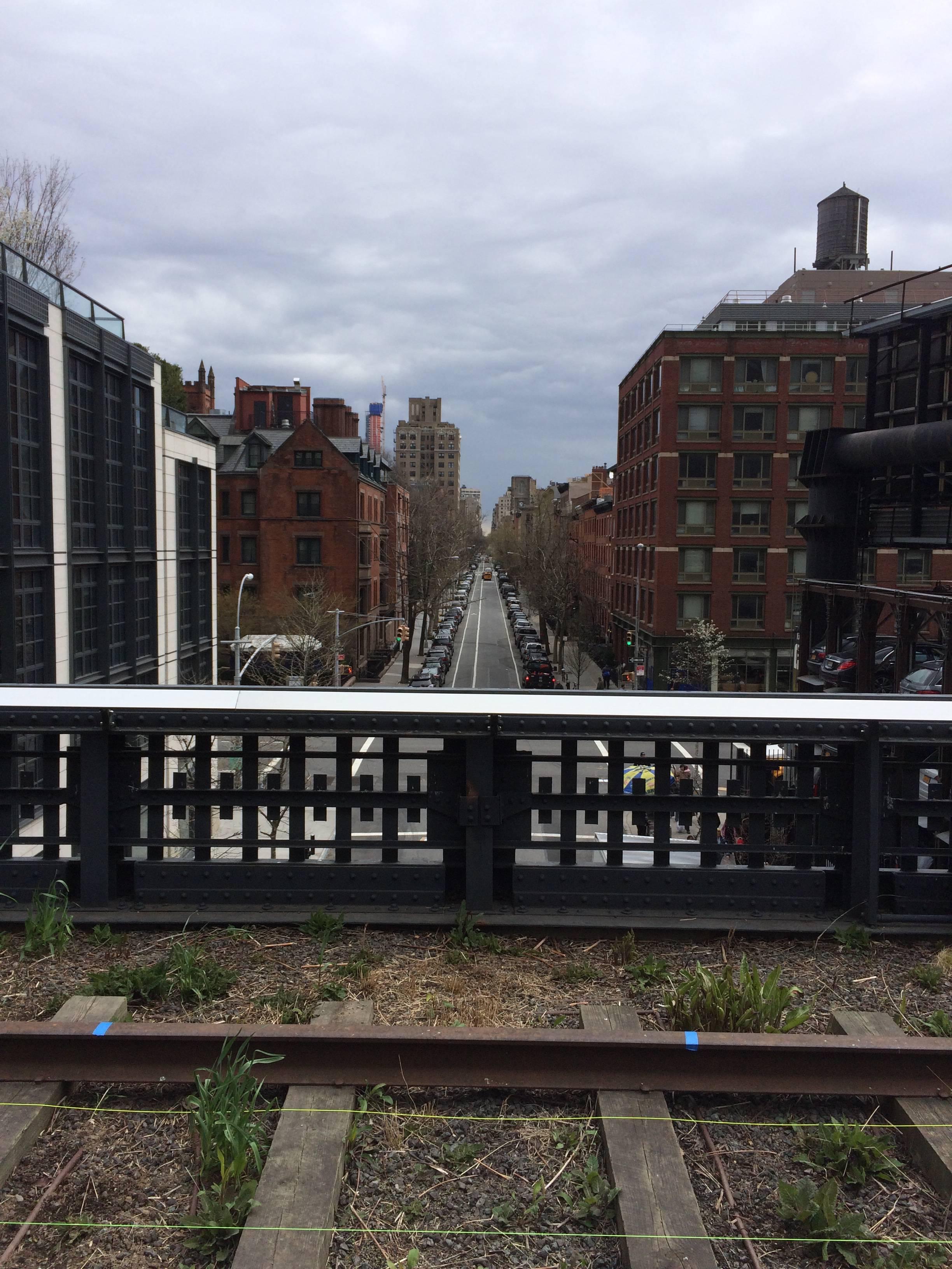 View down street
