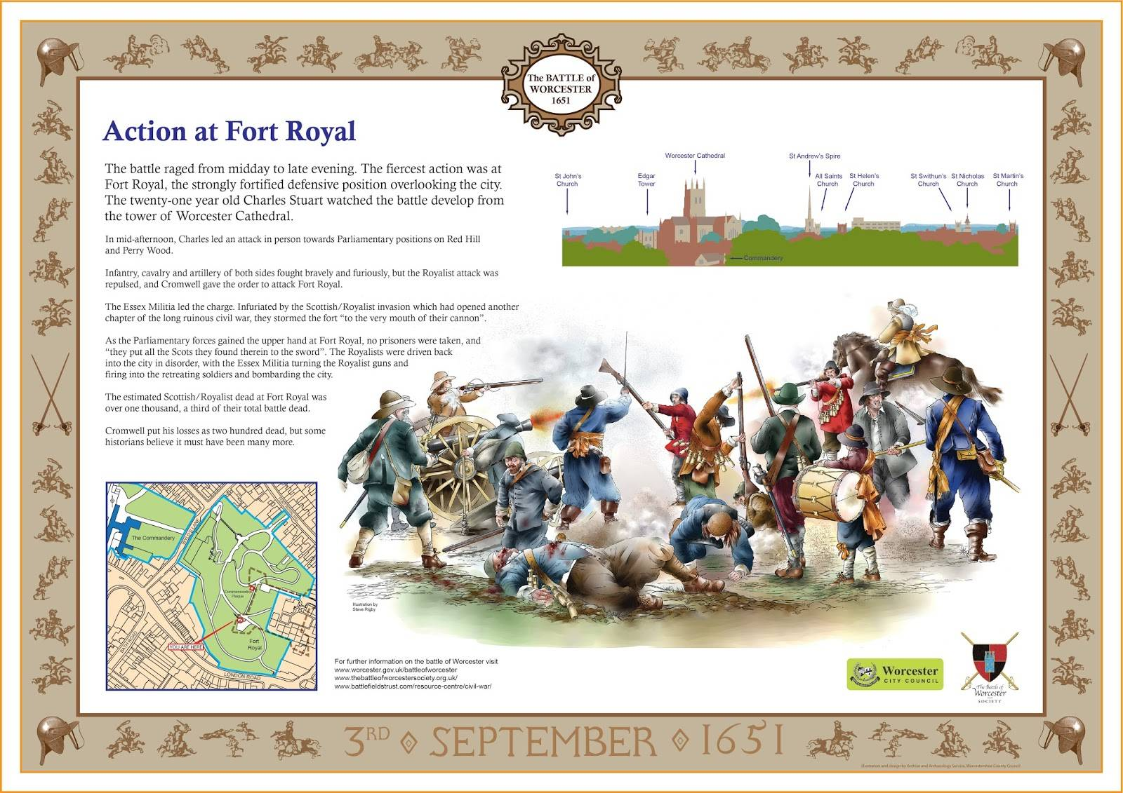 fort royal interpretation panel
